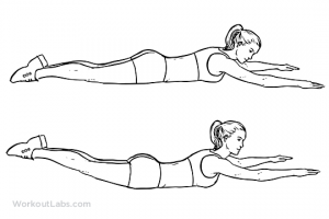 Άσκηση Σούπερμαν - ασκήσεις για πλάτη στο σπίτι